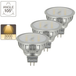 LED spot bulbs, GU5.3 base, 2,5W cons. (35W eq.), warm white