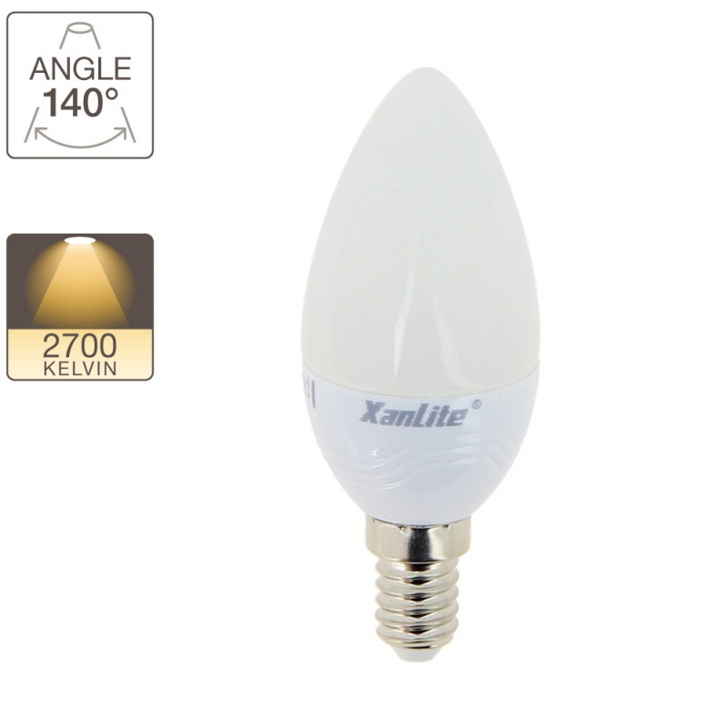 30W equivalent flame LED bulbs with base E14
