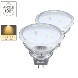 LED spot bulb, G5.3 base, 2,5W cons. (35W eq.), warm white light