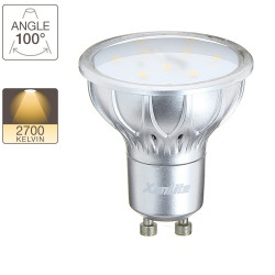 LED spot bulb, GU10 base, 2,8W cons. (20W eq.), warm white light