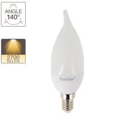 LED flame bulb, E14 base, 4W cons. (30W eq.), warm white light