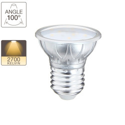 LED spot bulb, E27 base, 3W cons. ( 20W eq.), warm white light