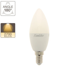 LED Flame Bulb, E14 base, 7W cons. (60W eq.), warm white light