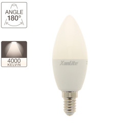 LED Flame Bulb, E14 base, 7W cons. (60W eq.), neutral white light