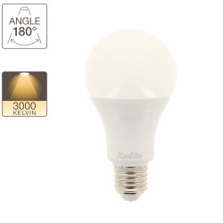 A60 LED bulb, E27 base, 18W cons. (150W eq.), warm white light