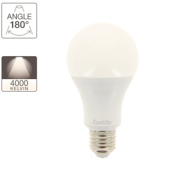 A60 LED bulb, E27 base, 18W cons. (150W eq.), neutral white light