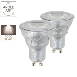 LED spot bulbs, GU10 base, 6,5W cons. (50W eq.), neutral white light