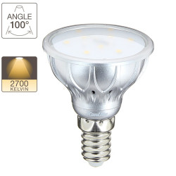 LED spot bulb, E14 base, 4,2W cons. (25W eq.), warm white light