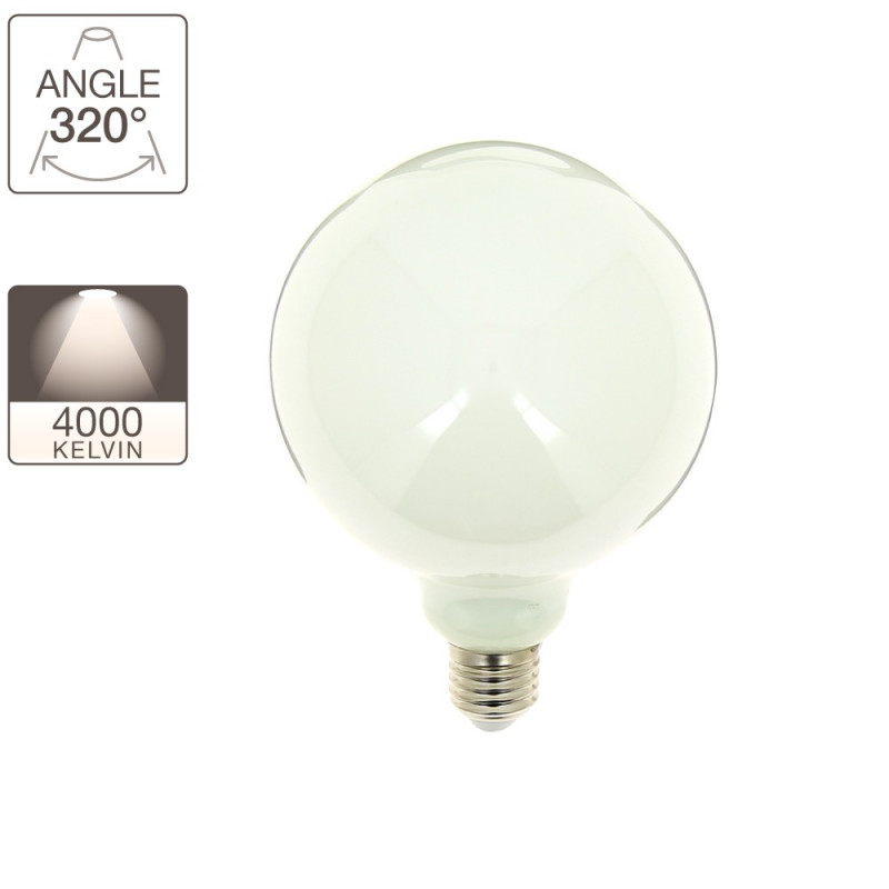 Lot de 4 ampoules globe G95 - culot E27 - dimmable