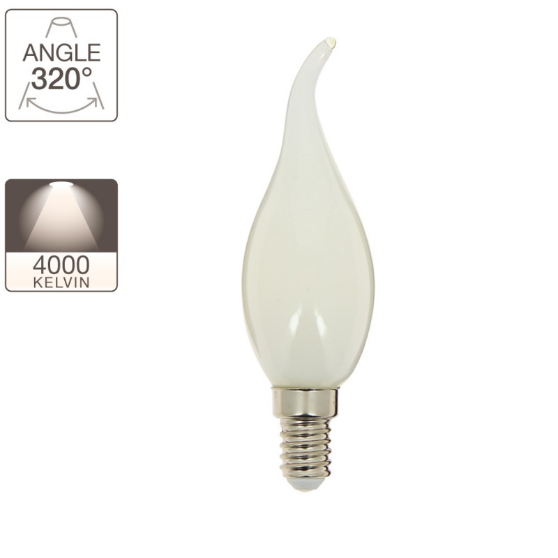 RetroLED bulb gust of wind flame, E14 base, 4W cons. (40W eq.), neutral white light