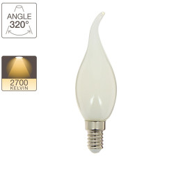 Gust of wind LED filament bulb, E14 base, 4W cons. (40W eq.), warm white light