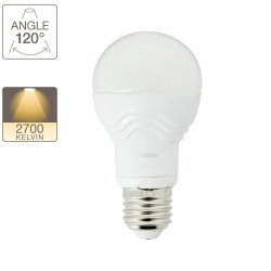 A60 LED bulb with E27 base, 4,8W cons. (32W eq.), warm white light