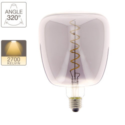 MUG LED decorative bulb, smoked glass, E27 base, 4W cons. 200 lumen, warm white light