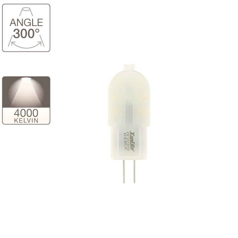 Bulb G4, base G4, 2W cons. (180 lumens), neutral white light