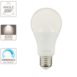 Ampoule LED standard, culot E27, 15W cons. (100W eq.), blanc neutre, dimmable
