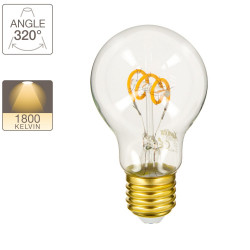 LED bulb (A60) / Vintage, E27 base, 4W cons. (18W eq.), 180 lumens, warm white light