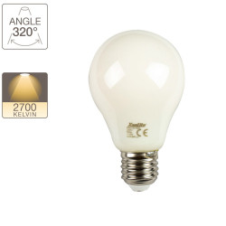 A65 LED filament bulb, E27 base, 11.8W cons. (100W eq.), warm white light