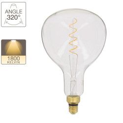 LED Giant Vial / Vintage bulb, E27 base, 4W cons. (30W eq.), 323 lumens, warm white light