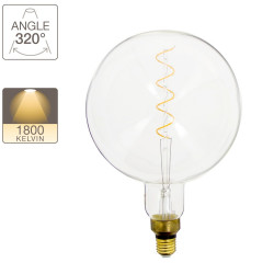 LED bulb Giant Globe (G200) / Vintage, E27 base, 4W cons. (30W eq.), 230 lumens, warm white light