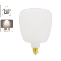 MUG Opaline LED decorative light bulb with milk glass, E27 base, 8W cons. (60W eq.), 806 lumens, neutral white light