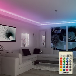 5 m LED strip light kit changing colours