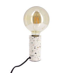 Table lamp CYCLO in terrazzo, base E27