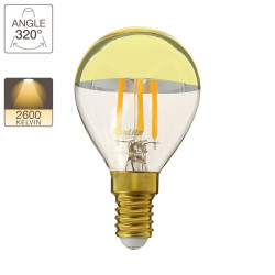 A60 LED light bulb, E14 base, 4W cons. (32W eq.), warm white light