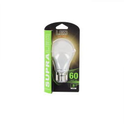 LED bulb (A60), B22 base, consumer 9W (eq. 60W), 806 lumen, warm white