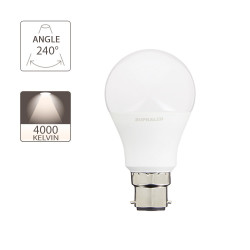 LED bulb (A60), B22 base, consumer 5W (eq. 40W), 470 lumen, neutral white