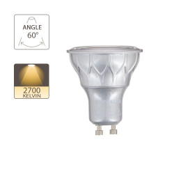 LED bulb (Spot), GU10 base, 7.2W (eq. 50W), 345 lumen, warm white