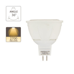 LED bulb (Spot), GU5.3 base, 7W (eq. 50W), 620 lumen, warm white