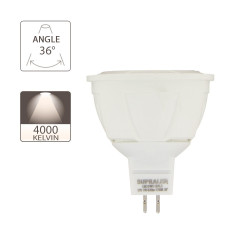 LED bulb (Spot), GU5.3 base, 7W consumer (50W eq.), 620 lumen, neutral white