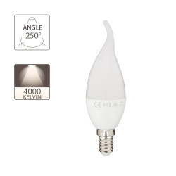 LED bulb (Gale Flame), E14 base, 5.3W (eq. 40W), 470 lumen, neutral white