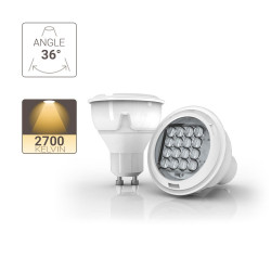 LED Spotlight - GU10 base - 415 lumens