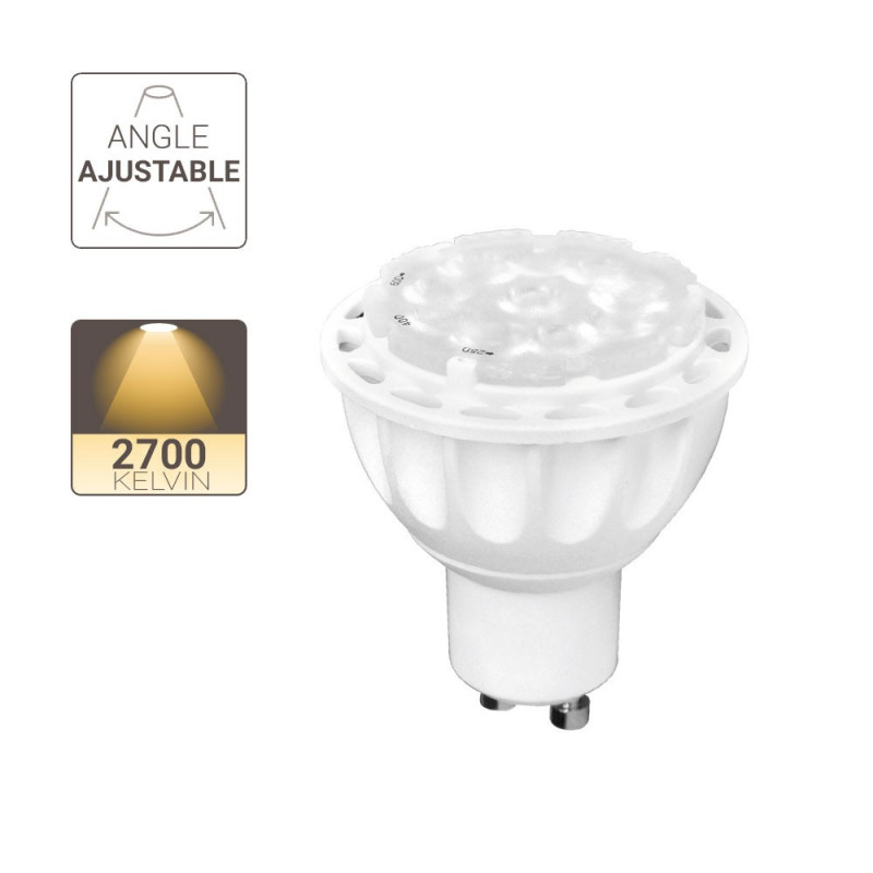 Spot LED - culot GU10 - angle ajustable