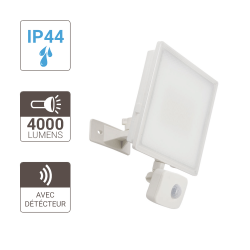 White LED wall projector - 4000 lumens - motion detector