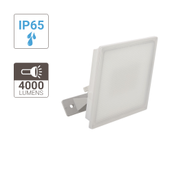 White LED wall projector - 4000 lumens - super slim