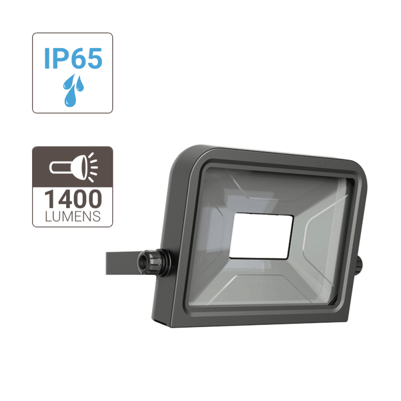 Wall mounted LED floodlight - 1400 Lumens - cold light -extra-flat and dimming