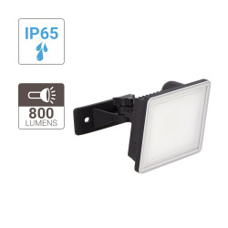 Integrated 10W black LED outdoor projector cons. (800 lumens)