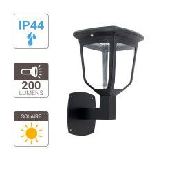 Kappa solar powered LED wall light - 200 lumens
