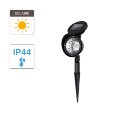 Solar-powered LED spotlight, cool white, IP44 - Outdoor Special