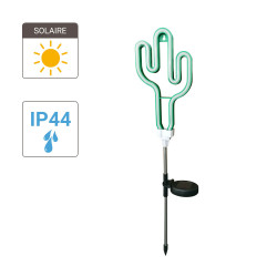 "Neon ""Cactus"" solar LED post, Green colour, IP44 - Outdoor Special"