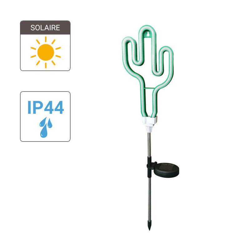 """Neon """"Cactus"""" solar LED post, Green colour, IP44 - Outdoor Special"""