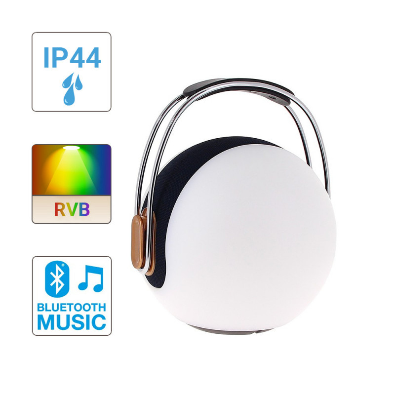 Lanterne portable LED SONOLUX - blanc et multicolor - haut parleur bluetooth