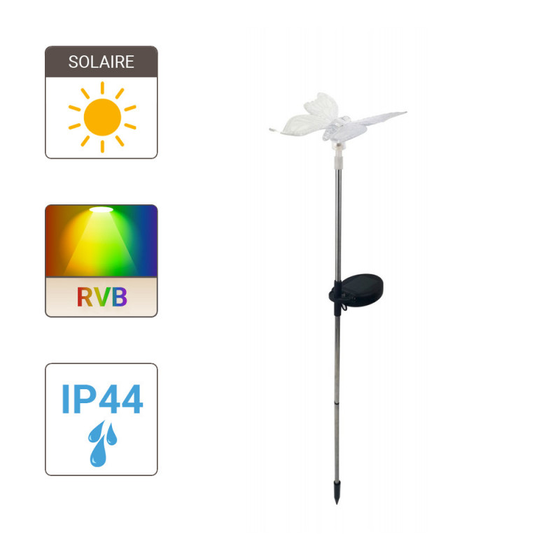 """Butterfly"" solar LED post, Multicolour, IP44 - Outdoor special"