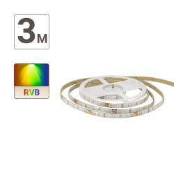Ruban LED RVB Digital (kit complet) - 3m - 166 programmes animés & colorés