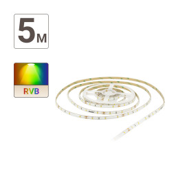 Digital RGB LED Ribbon (complete kit) - 5m - 166 animated & colored programs