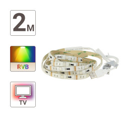 LED TV ribbon (complete kit) - 2m - multicolor