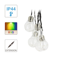 Extension for P45 bulb garland - 3 m - RGB