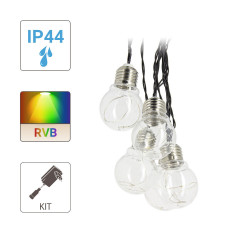 P45 LED light bulb garland - 5 m - RGB